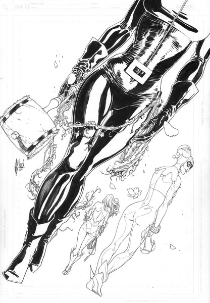 Guillem March Original Art Gotham City Sirens #26 Cover
