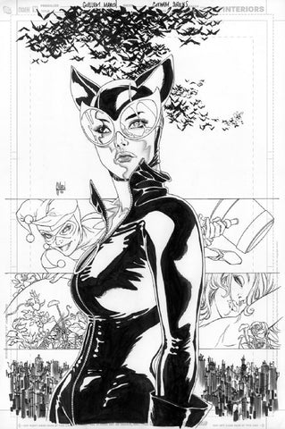 Guillem March Original Art Gotham City Sirens #17 Cover