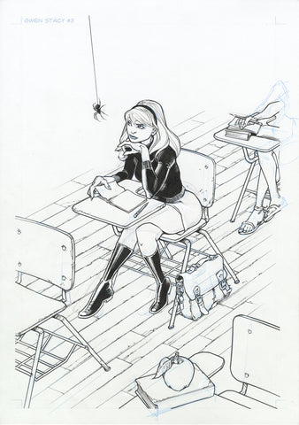 Olivier Vatine Original Art Gwen Stacy #3 Cover