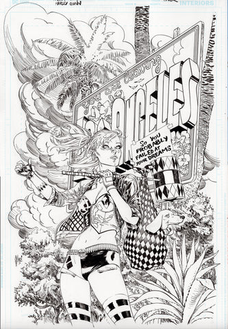 Guillem March Original Art Harley Quinn #74 Cover