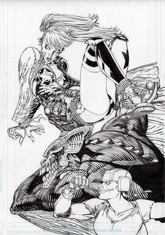 Guillem March Original Art Harley Quinn #73 Cover