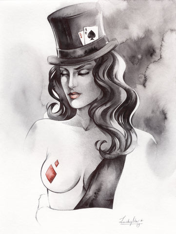 Stephanie Lavaud Original Art Zatanna Illustration