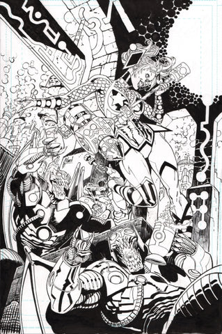 Guillem March Original Art Harley Quinn #46 Cover
