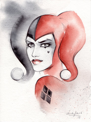 Stephanie Lavaud Original Art Harley Quinn Illustration
