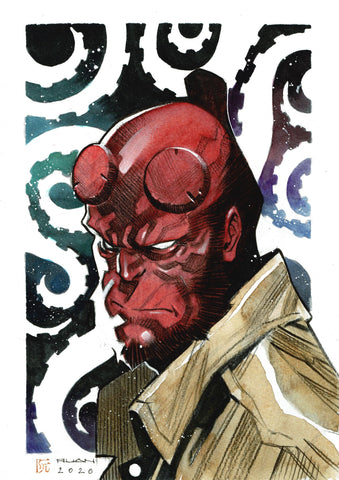 Dike Ruan Original Art *New Collection* Hellboy Illustration