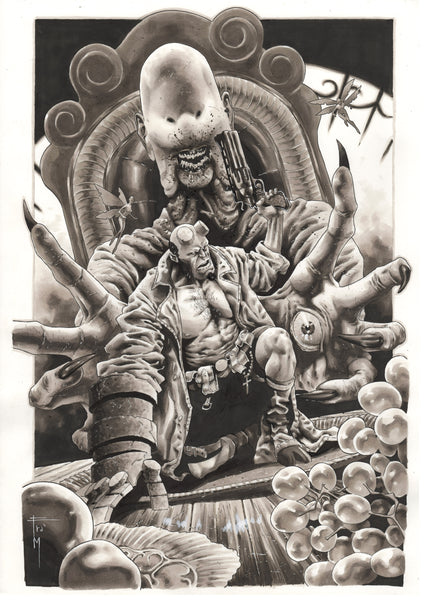 Francesco Mobili Original Art Hellboy Illustration
