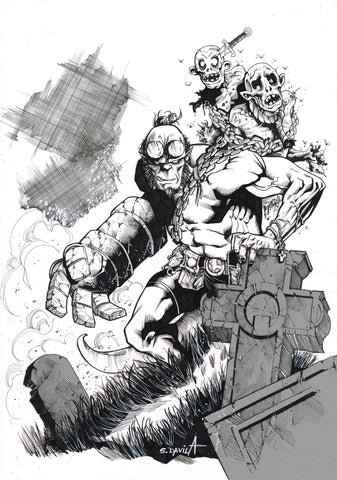 Sergio Davila Original Art Hellboy Illustration