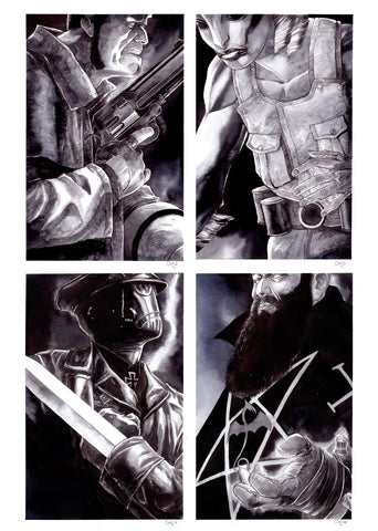 Guillaume Martinez Original Art Hellboy Collection of 4 Illustrations