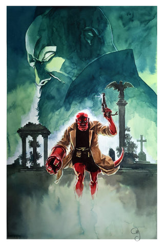 Guillaume Martinez Original Art Hellboy Illustration