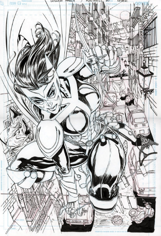 Guillem March Original Art Huntress #1 Cover
