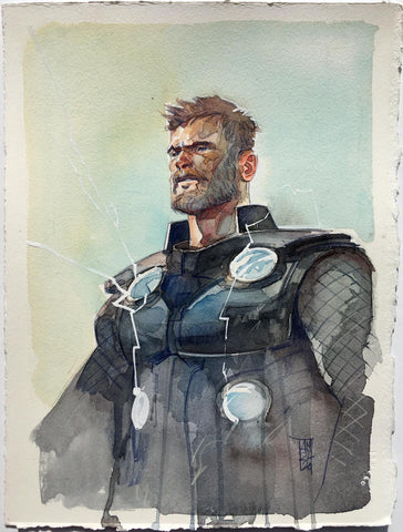 Alex Maleev Original Art Thor Illustration