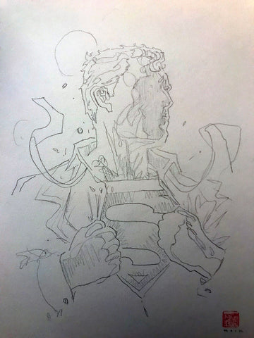 David Mack Original Art Superman #1001 Prelim Cover