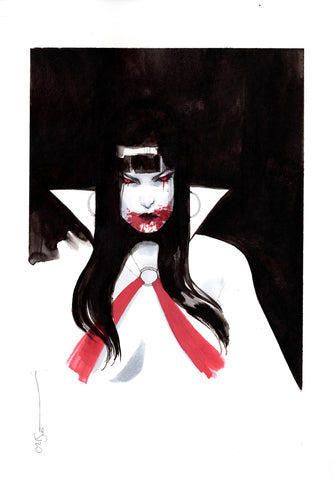 Helena Masellis Original Art Vampirella Illustration