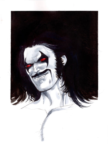 Helena Masellis Original Art Lobo Illustration