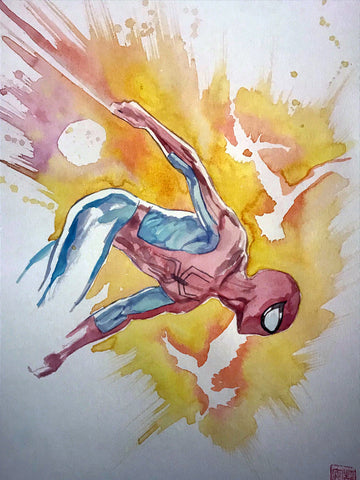David Mack Original Art Spider-Man First Painted Concept Cover