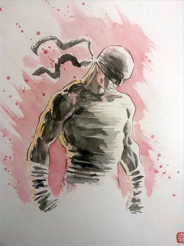 David Mack Original Art Daredevil Netflix Illustration