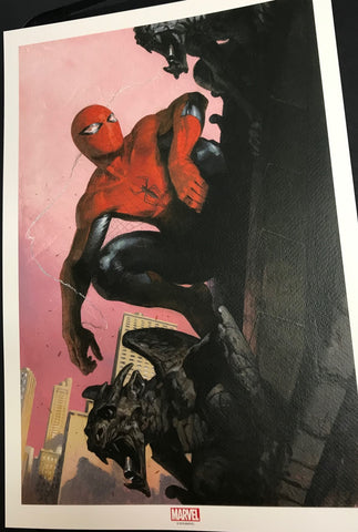 SIGNED New Spider-Man Lithograph by Gabriele Dell'Otto