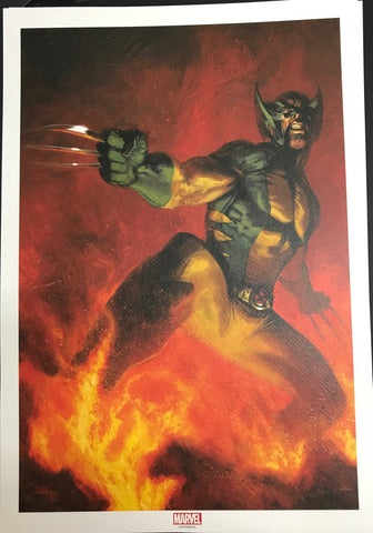 SIGNED New Wolverine Lithograph by Gabriele Dell'Otto