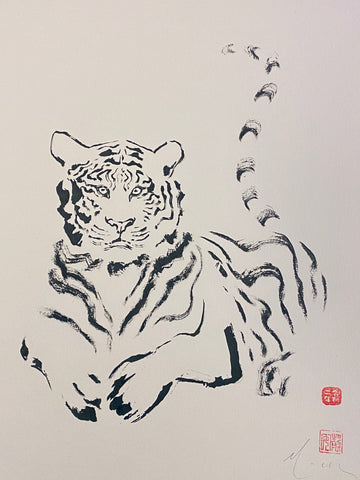 David Mack Original Art Tiger Brush & Ink