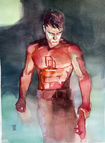 Alex Maleev Original Art Daredevil Illustration