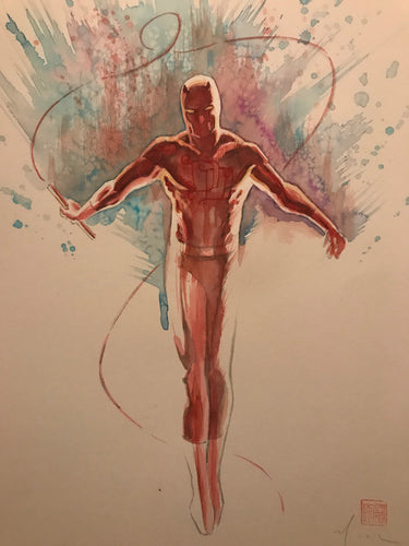 David Mack Original Art Daredevil #500 Study Pin-up