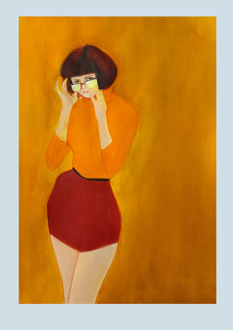 Helena Masellis Original Art Velma Dinkley Scooby Doo Illustration