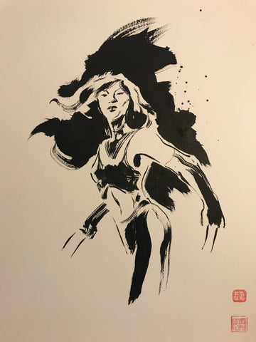 David Mack Original Art X-23 #1 Brush & Ink Collection