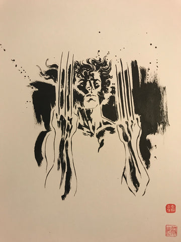 David Mack Original Art Wolverine Brush & Ink Collection