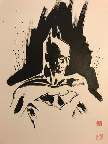 David Mack Original Art Batman #1 Brush & Ink Collection