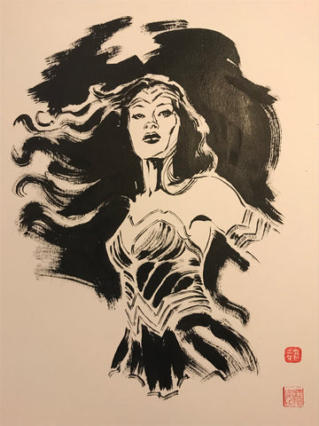 David Mack Original Art Wonder Woman Brush & Ink Collection