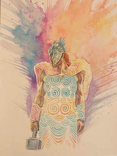 David Mack Original Art Norse Mythology #6 Cover