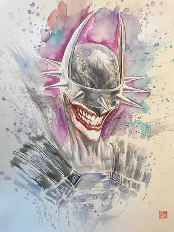 David Mack Original Art Batman Who Laughs Illustration