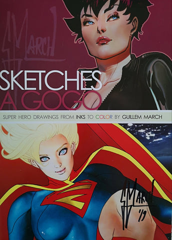 SIGNED 'Sketches A Gogo' Volume 1 by Guillem March