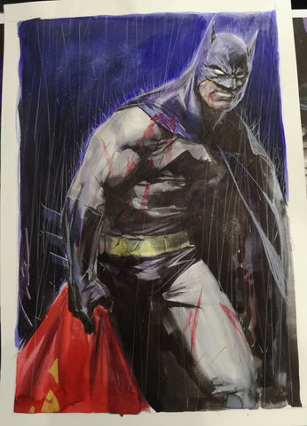 Gerald Parel Original Art Dark Knight Returns Batman Illustration