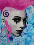 "Zu Orzu Deluxe Punk Mambo Glossed 12x18"" Canvas Limited to 3"