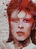 "Zu Orzu Deluxe David Bowie Glossed 12x18"" Canvas Limited to 3"