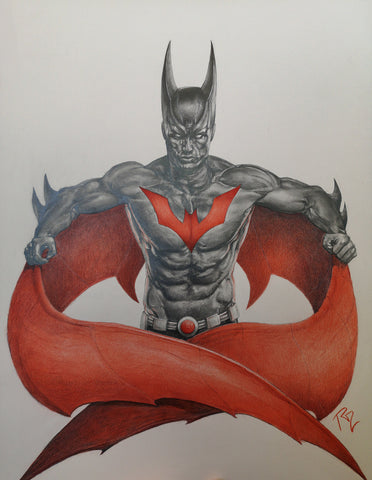 Pepe Valencia Original Art Batman Beyond Graphite Illustration