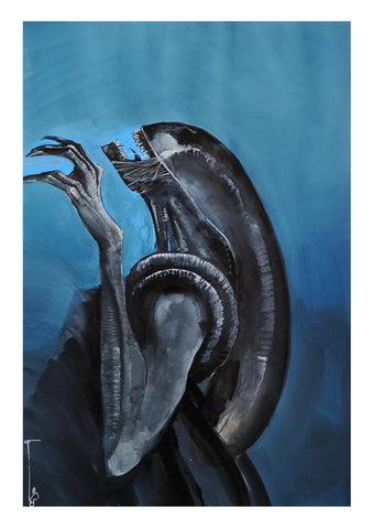 Helena Masellis Original Art Alien Illustration