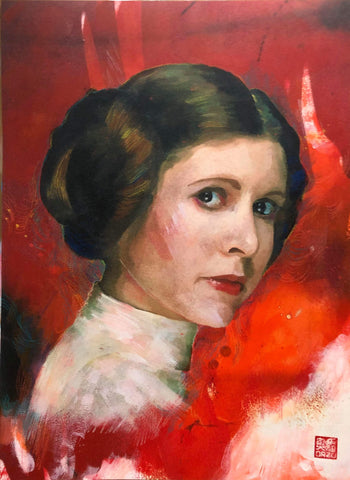 Zu Orzu Original Art Princess Leia Star Wars Day Illustration