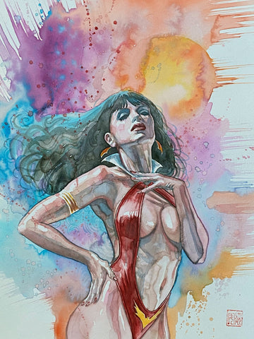David Mack Original Art Vampirella Red Sonja #2 Cover