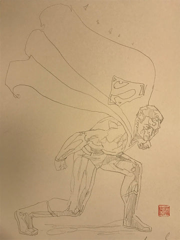 David Mack Original Art Superman #4 Prelim Cover