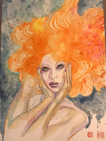 David Mack Original Art Neil Gaiman's Neverwear Delirium Alternative Illustration