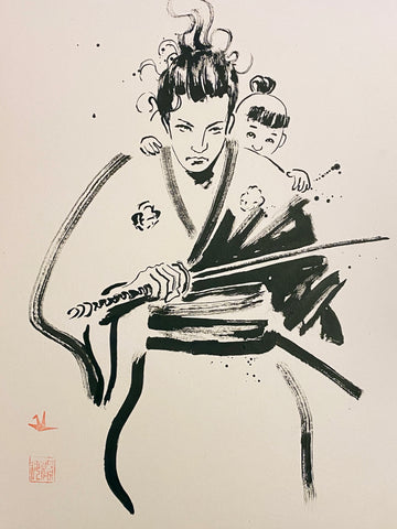 David Mack Original Art Samurais Brush & Ink