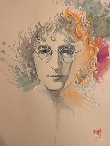David Mack Original Art John Lennon Published Art