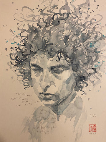 David Mack Original Art Bob Dylan Published Art