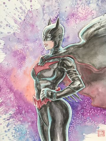 David Mack Original Art Batwoman New Design Illustration
