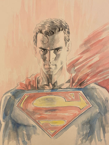 David Mack Original Art Superman #3 Cover & DC Official Print