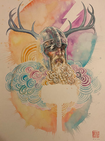 David Mack Original Art Norse Mythology #1 Cover