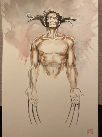 David Mack Original Art Wolverine: Life Blood Cover Painted Study