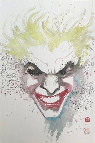 David Mack Original Art Joker Illustration